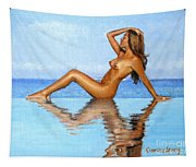 Infinity Pool Nude Tapestry
