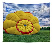 Inflating The Hot Air Balloon Tapestry