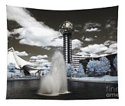 Infrared City Park Tapestry