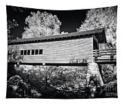 Infrared Covered Bridge Tapestry