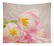 Inner Beauty - Pink Tulips Tapestry