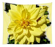 Insect On A Dahlia Tapestry
