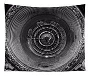 Inside A Jet Engine Black And White Tapestry