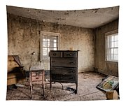 Inside Abandoned House Photos - Old Room - Life Long Gone Tapestry