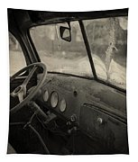 Inside An Old Junker Car Tapestry