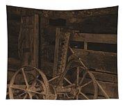 Inside The Barn In Sepia Tapestry