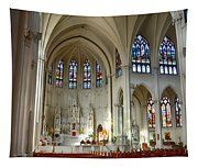 Inside The Cathedral Basilica Of The Immaculate Conception 1 Tapestry