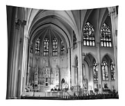 Inside The Cathedral Basilica Of The Immaculate Conception 1 Bw Tapestry