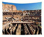 Inside The Colosseum Tapestry