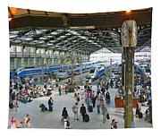 Inside Train Station, Nice, France Tapestry