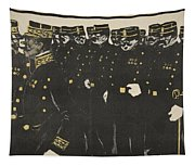 Inspection Of A Line Of Police Tapestry