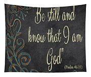Inspirational Chalkboard-b Tapestry