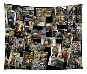 Interior Russian Submarine Horz Collage Tapestry