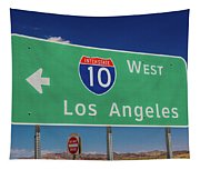 Interstate 10 Highway Signs Tapestry