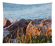 Inverness Beach Rocks  Tapestry
