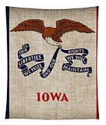 Iowa State Flag Tapestry by Pixel Chimp