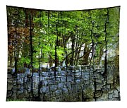 Ireland Stone Wall And Trees Tapestry
