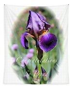 Iris Congratulations Card Tapestry