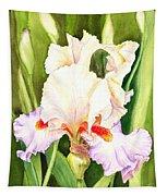 Iris Flower Dancing Petals Tapestry