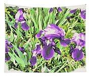 Irises In The Garden Tapestry