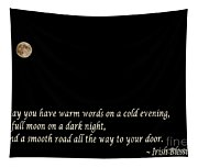 Irish Blessing 3 - Full Moon - Greeting Tapestry