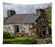 Irish Cottage Ruins Tapestry