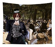 Irish Red And White Setter Art Canvas Print Tapestry