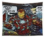 Iron Man Graffiti Tapestry