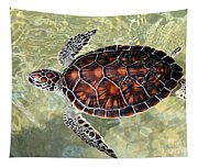 Island Turtle Tapestry
