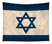Israel Flag Vintage Distressed Finish Tapestry