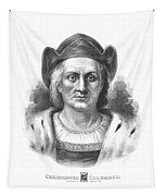 Italian Explorer Christopher Columbus Tapestry