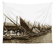 Italian Fishing Boats Fishermen's Wharf San Francisco Circa 1903 Tapestry
