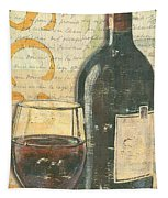 Italian Wine And Grapes Tapestry