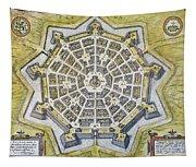 Italy: Palmanova Map, 1598 Tapestry