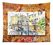 Italy Sketches Venice Canale Tapestry
