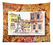 Italy Sketches Venice Piazza Tapestry