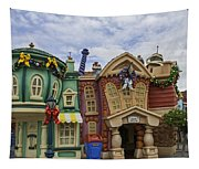 It's A Toontown Christmas Tapestry