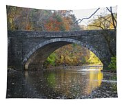 It's Autumn At The Valley Green Bridge Tapestry