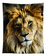 Its Good To Be King Portrait Illustration Tapestry