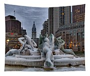 Its Icy In Philly Tapestry
