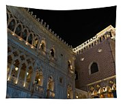 It's Not Venice - The Famous Venetian Las Vegas At Night Tapestry