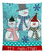 It's Snowtime Tapestry