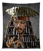 Jack Sparrow Quote Portrait Typography Artwork Tapestry