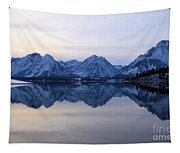 Jackson Lake Reflections Tapestry