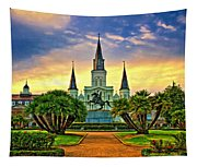 Jackson Square Evening - Paint Tapestry