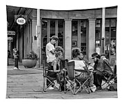 Jackson Square Reading 2 Bw Tapestry