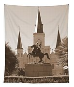 Jackson Square Statue In Sepia Tapestry