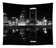Jacksonille Black And White Night Tapestry