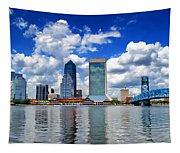 Jacksonville Skyline Tapestry