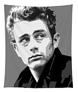 James Dean In Black And White Tapestry
